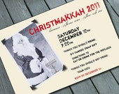 CHRISTMAS and HANUKKAH:  CHRISTMAKKAH Party Invitation Digital printable file