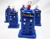 Fan Art: Miniature TARDIS Polymer Clay Necklace