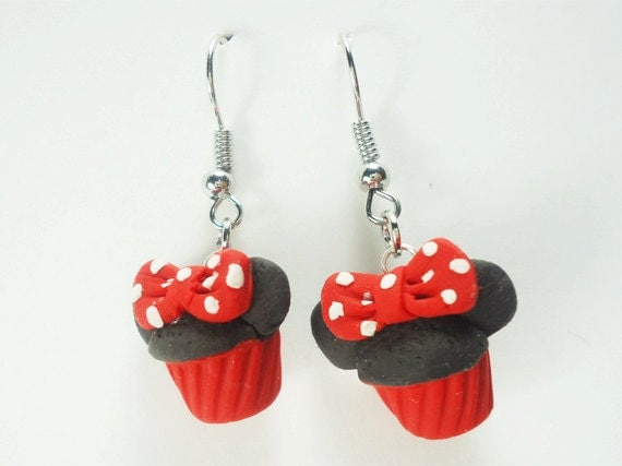 Delicious chocolate Mini Mouse Hat Earrings