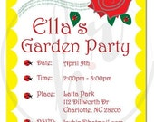 Ladybug Garden Party Birthday Collection - Printable
