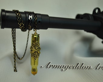 Steampunk Dragonfly Bullet Casing Pendent