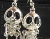 Jack Skellington Nightmare Before Christmas Charm Earrings, Great for Halloween