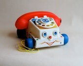 1961 Fisher Price Chatter Telephone Pull Toy
