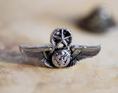 Tiny Wings - Military Silvery Pin Wings Eagle and Star