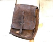 Distressed Leather Postman Bag