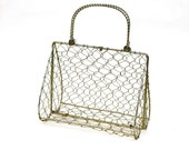 Golden Wire Handbag Cage Skeleton - To make a handbag or to use as decoration