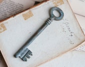 Long Old Patina Skeleton Key - Jewelry Assemblage Altered Arts