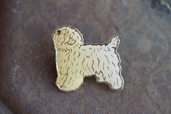 Enamel Puppy Brooch