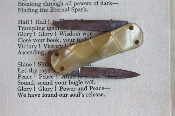 Tiny Double Blade Pocket Knife