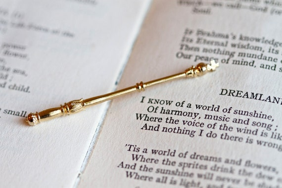 Off With Their Heads - Miniature Golden Scepter - Royal Wand Rod