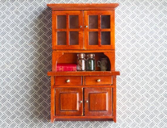 Miniature Dolls House Rustic Kitchen Cupboard