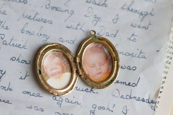 Old locket with Pictures of Children