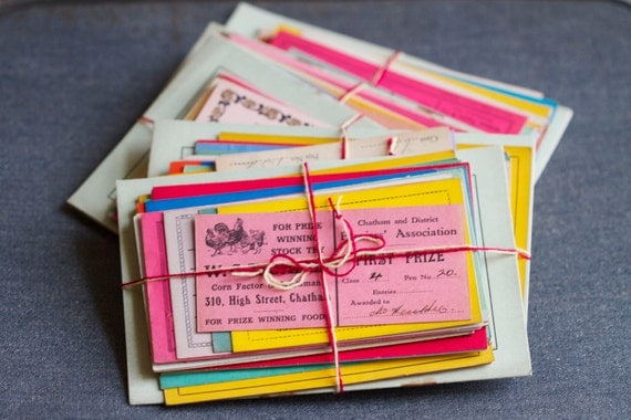1930s Colorful Paper Ephemera - Pack of Poultry Prize Cards and Mating List Book
