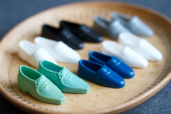 Old Vintage Ken Shoes - Male Doll Footwear for Every occasion - 6 pairs