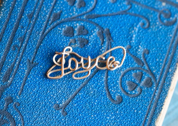 Joyce - Golden Name Small Brooch or Scarf Holder