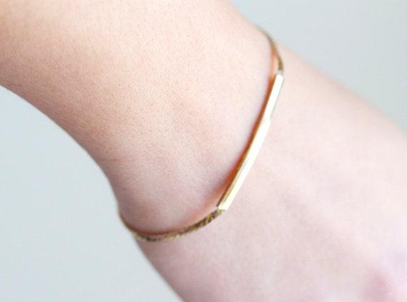 Dusty Gold Eighties Thin Bracelet
