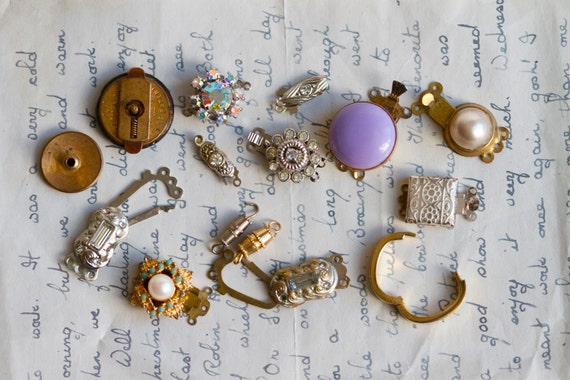 Collection of Vintage and Antique Clasps and Jewelry Fastening Devices 15