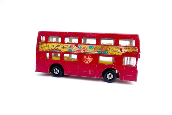 "Vintage Lesney ""Matchbox' Double-decker 'Bus - Made in England - 1972"