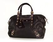 vegan leather handbag purse black  -.-  the Phelan -.-  25% launch discount