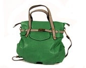 vegan leather handbag purse green -.-  the Finn -.-  25% launch discount