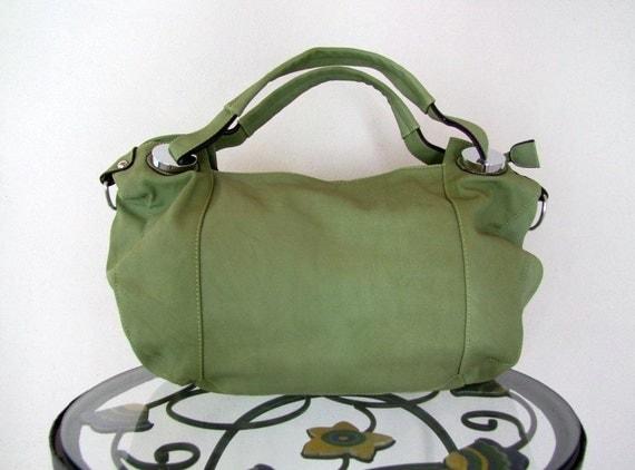 Hawika sage green  vegan leather bag