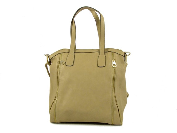 vegan leather handbag purse beige - the Wyanne -  40%  sale