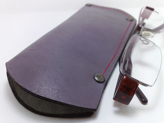 Eye Glasses sleeve holder, Reading glass covers in lilac genuine cowhide only for marcy goldman (wheatgirl2)
