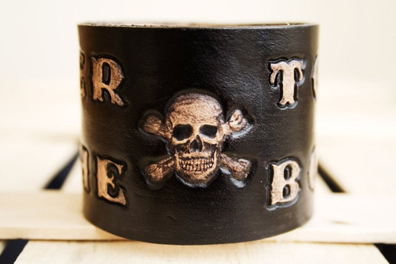 Mens Leather Cuff Biker To The Bone