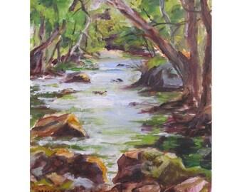Stephens State Park in Northwest NJ - Original Oil Painting