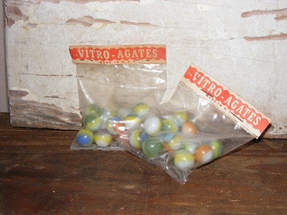 Vintage Vitro Agates Marbles FREE SHIPPING to the USA