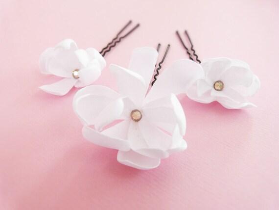"Bridal daisy hair pins Wedding hair accessories - Custom order for ""Bro"""