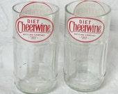 Set of Four Diet Cheerwine Juice Glasses