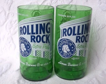 Rolling Rock Juice Glasses (2)