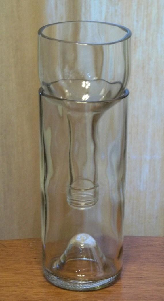 Clear VinoPonic Planter - Re-Purposed Wine Bottle Self Watering Planter
