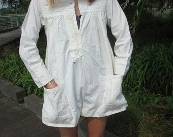 Vintage white tunic dress