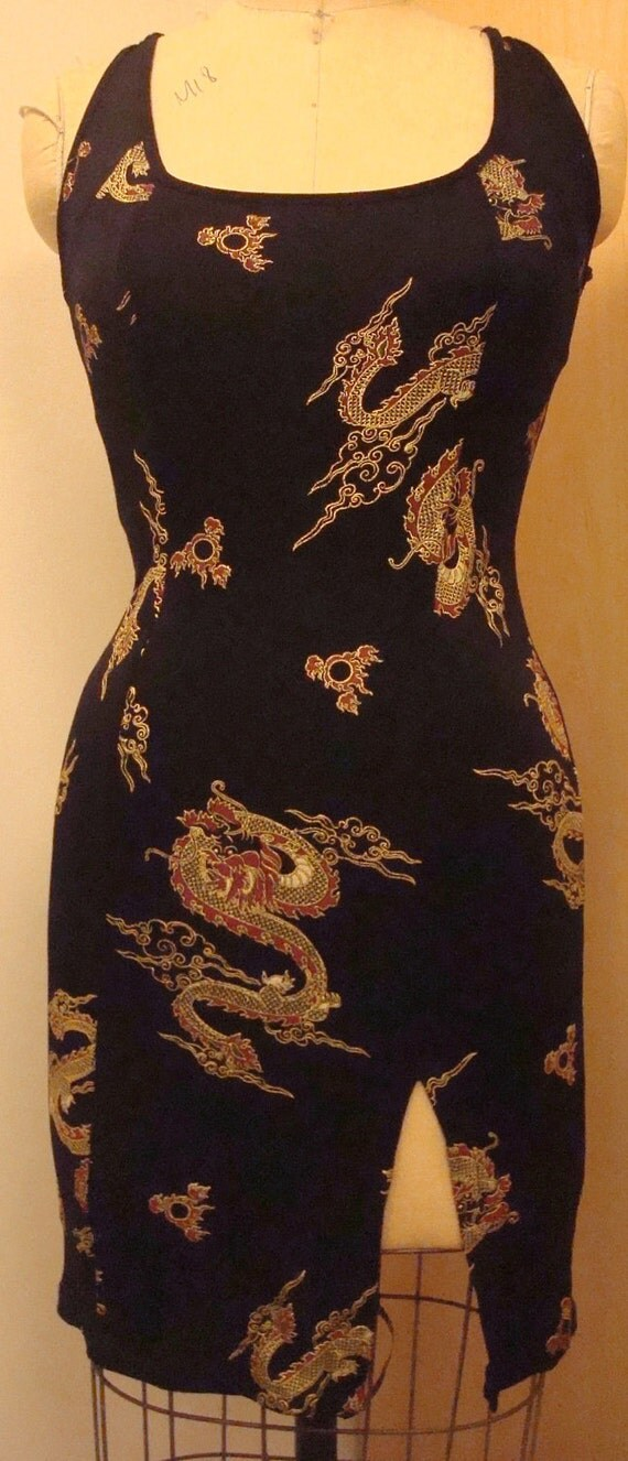Dragon print dress