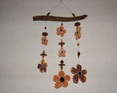 Sunflowers - Glass Wind Chime Recycled Stained Glass