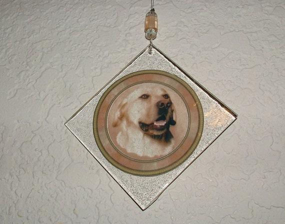 Golden Retriever Ornament - Recycled Glass