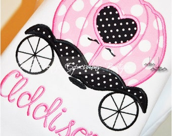 Princess Carriage Appliqued Bodysuit or Shirt