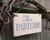 Garden sign, handpainted,  vintage English country garden style, reclaimed wood