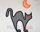 Halloween Cat Applique Design Machine Embroidery INSTANT DOWNLOAD