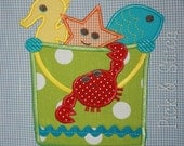 Sandpail and Friends Summer Applique Design Machine Embroidery INSTANT DOWNLOAD
