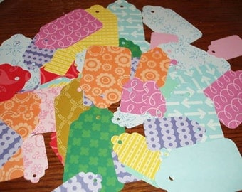 75 Tags Sizzix  Die Cuts Journals Variety of Colors