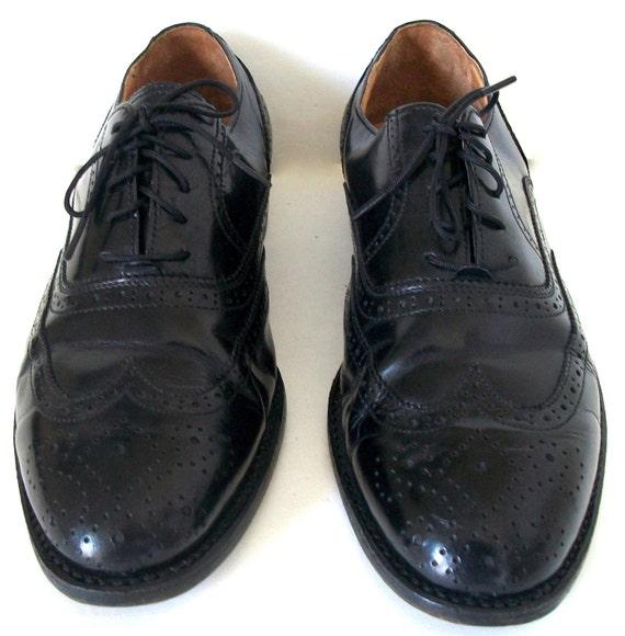 Vintage Westminster Black Lace-Up Oxford's for Men