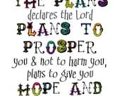 Jeremiah 29:11 5x7