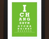 Pearl Jam-  Eye Chart Print