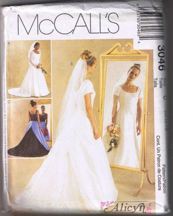 McCall's 3046 Bridal Gown / Bridesmaid Dress - Sz 10-14