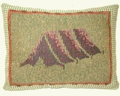 Handmade Pillow Camping TENT   8.75 x 6.5 in. Cabin Woodland Forest Home Decor Prim Primitive CharlotteStyle Folk Art
