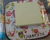 Custom Order for hollymartha 'Thankful' Magnetic Sticky Note holder with pen