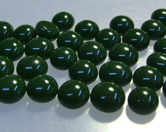 Kiln Formed Opaque Green Glass Bubbles 40 Pieces (B219)